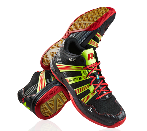 SALMING RACE R9 MID 2.0 (MEN'S) - BLACK/RED