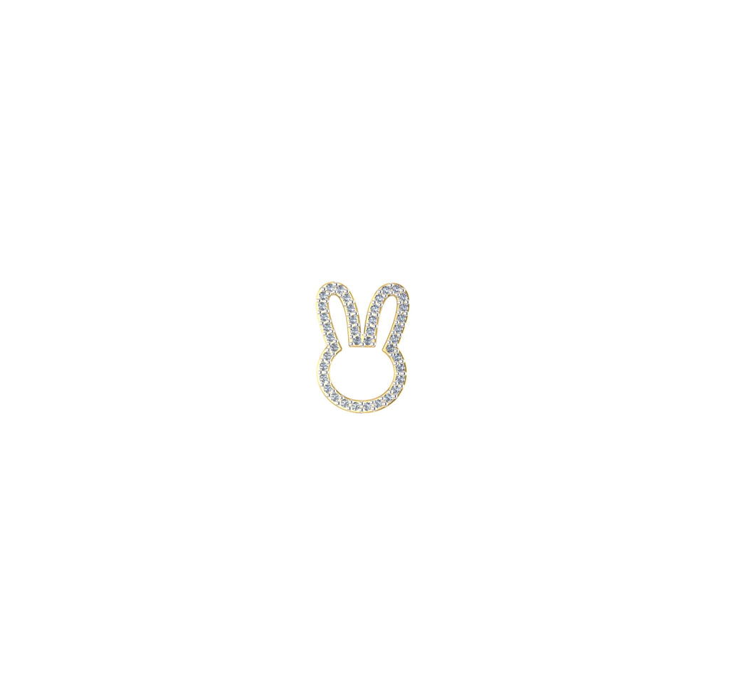 18k Mini Bunny Diamond Pendant