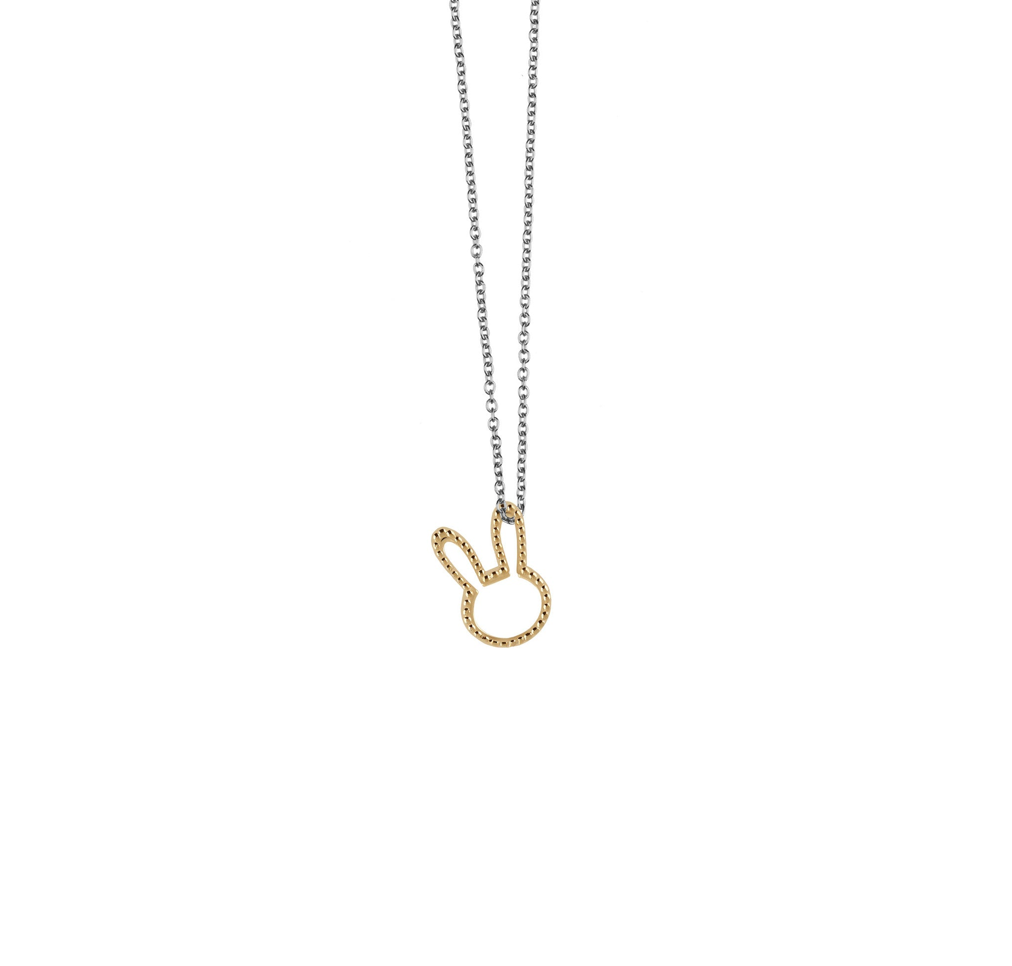 co y dotted necklace mini products heart little chain darling on pendant