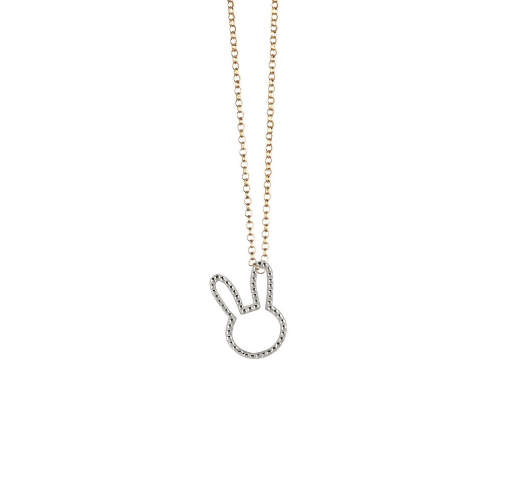 gold bunny pendant necklace bracelet