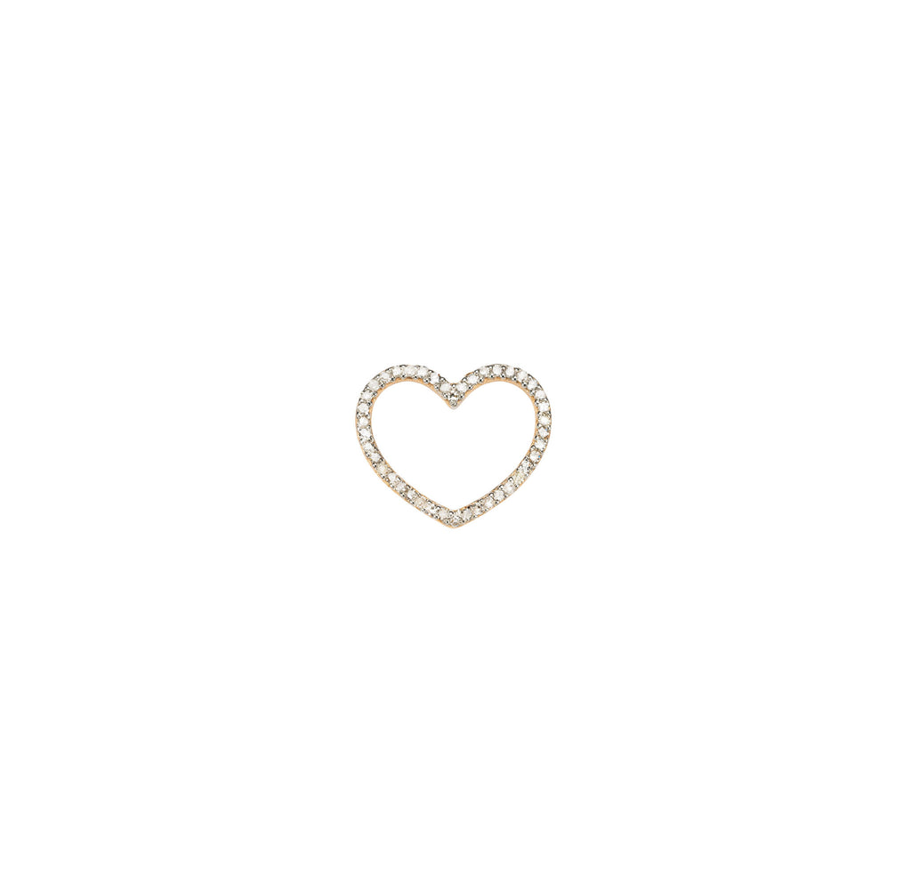 18k Heart Mum Diamond Pendant