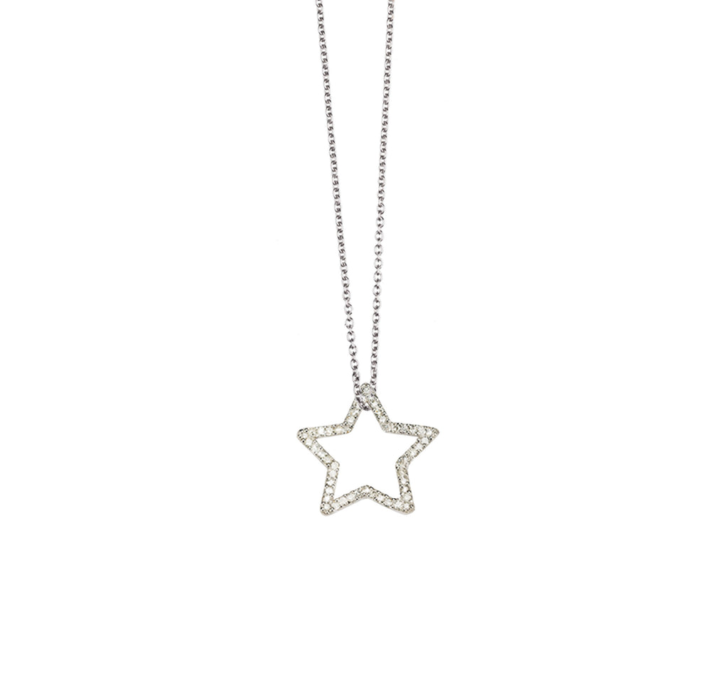 18k Star Diamond Pendant