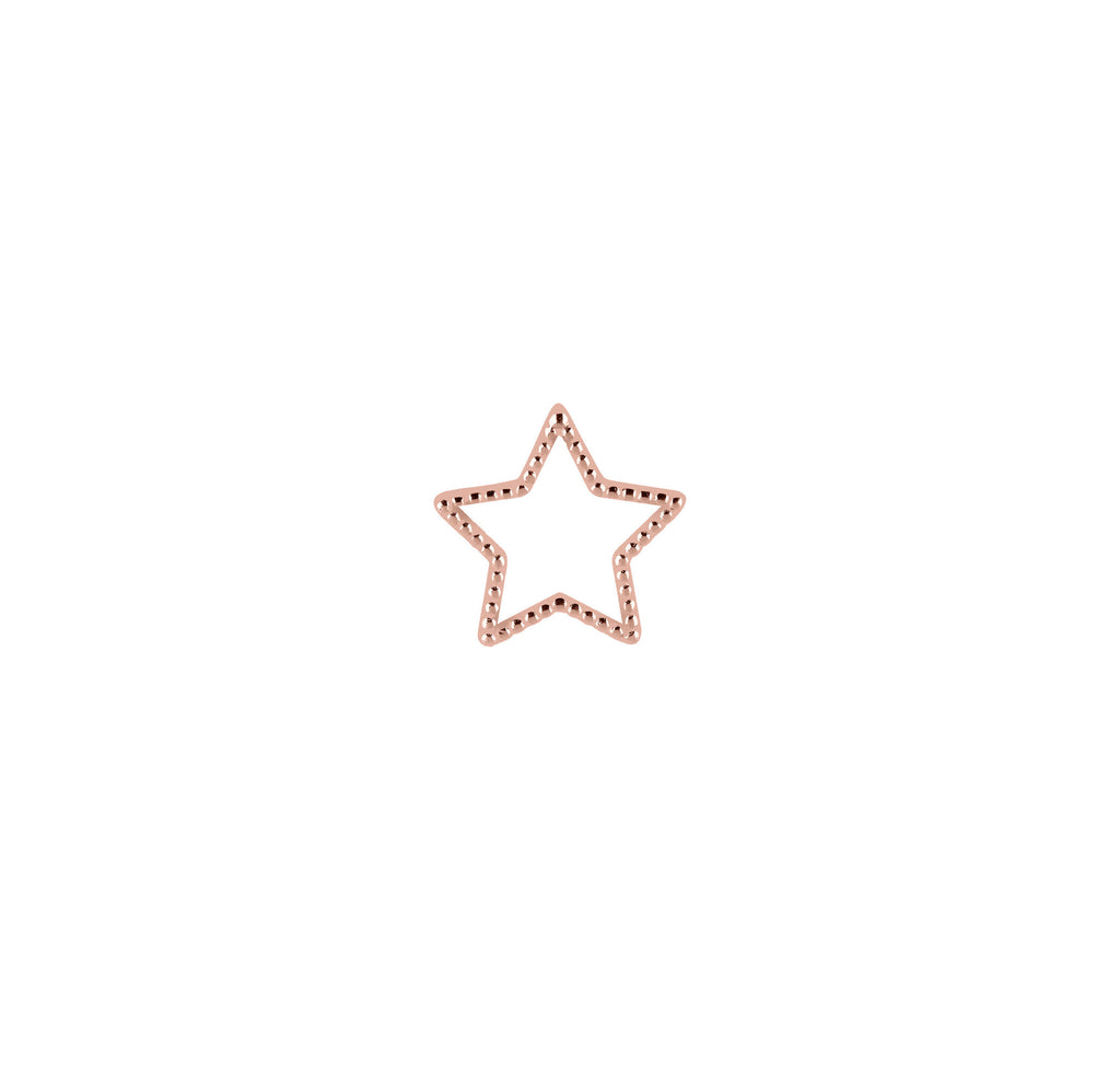 18k Star Dotted Pendant