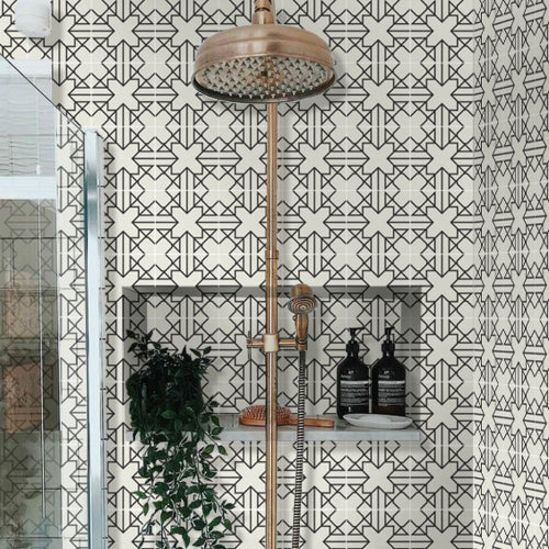 Tile stickers can be used on shower walls