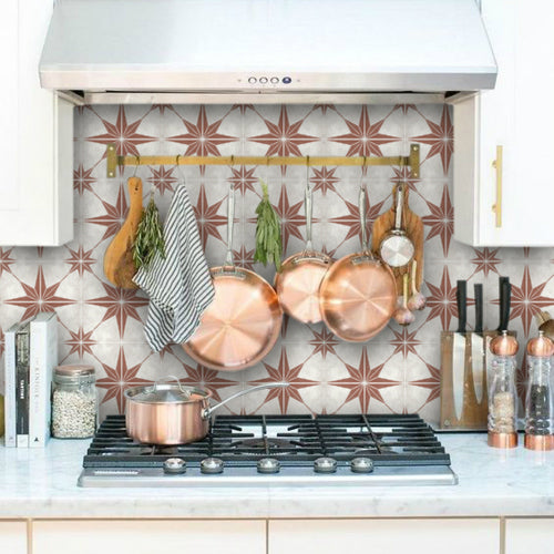 Tile Stickers can be used in front of the stove