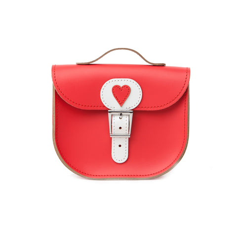 Poppy With Love Leather Bag. 100% bovine leather. Red.