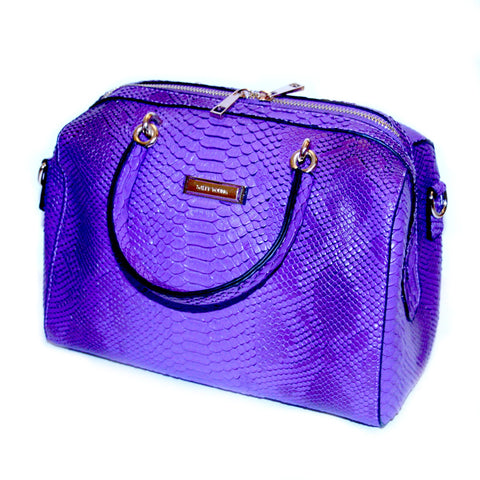 Sally Cinnamon Purple Bag - Front