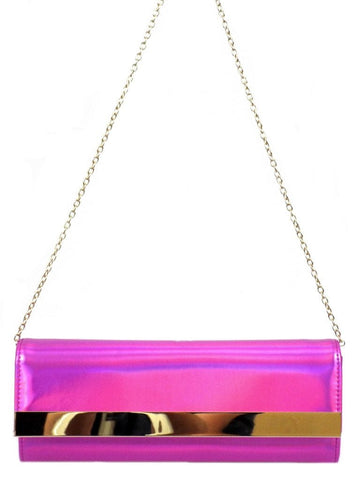 Future Is Here Hologram Clutch Bag