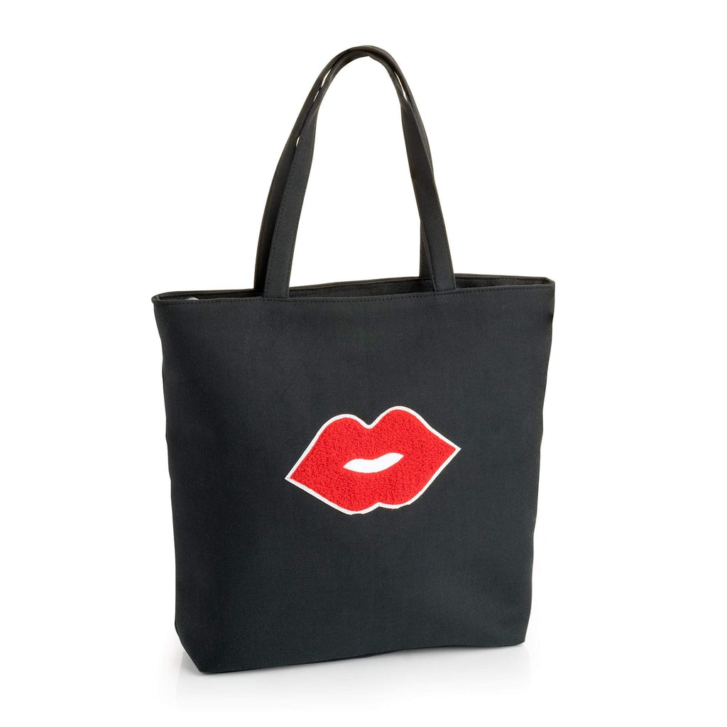 Black and red lips design bag