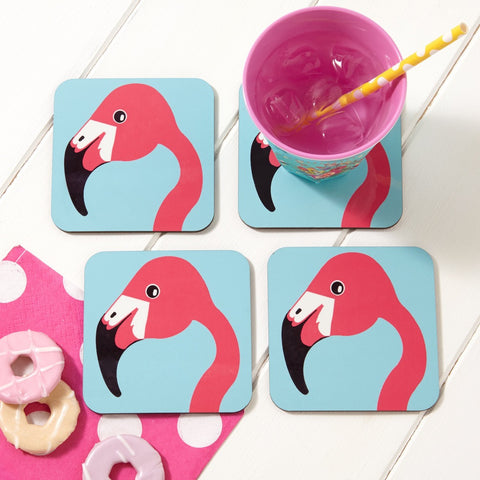 Miss Flamingo Coaster