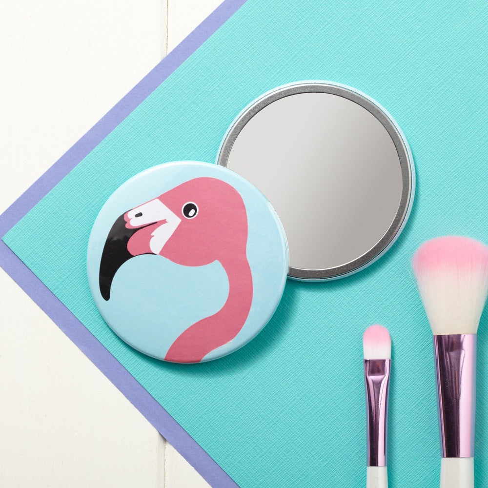 Miss Flamingo Pocket Mirror