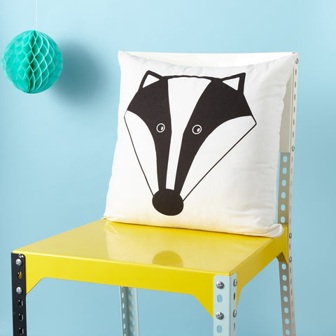 Mr Badger Cushion - Screen Printed