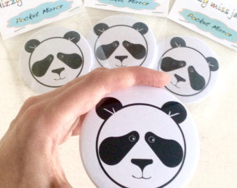 Mr Panda Pocket Mirror
