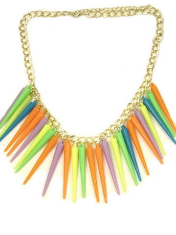 I Was A Neon Punk Necklace