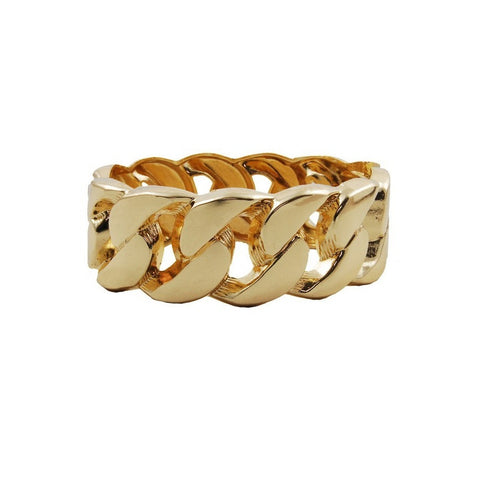 The Missing Link Bangle. Gold coloured metal hinged bangle