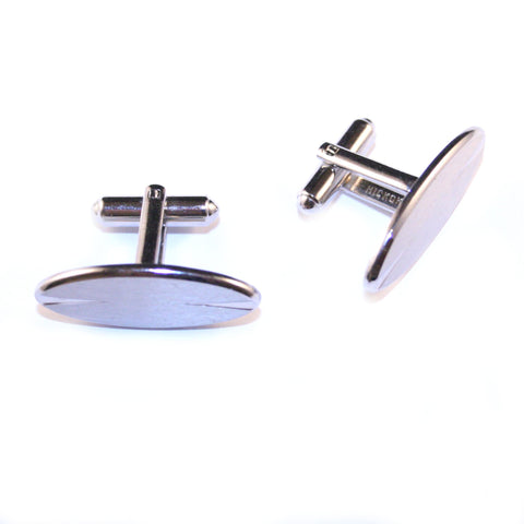 Elliptical Wonder Silver Vintage Cufflinks
