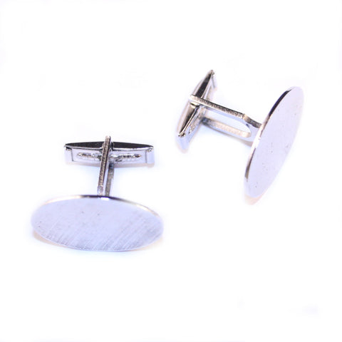 Concave Treat Silver Vintage Cufflinks