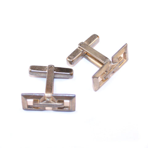 Gripped Gold Vintage Cufflinks