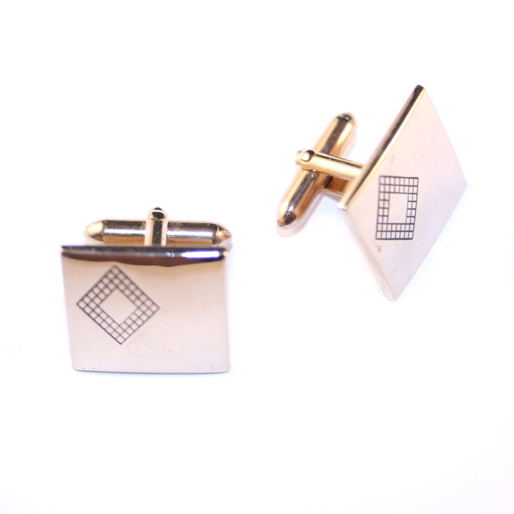 Diamonds Are Mine Gold Vintage Cufflinks