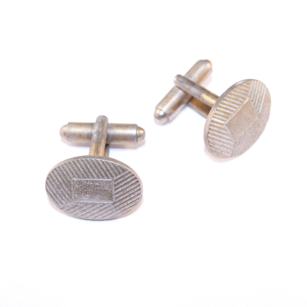 Square My Oval Vintage Cufflinks