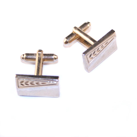 Conifer Gold Vintage Cufflinks
