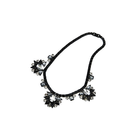 Brooklyn Bling Necklace. Black, grey with sparkly stones