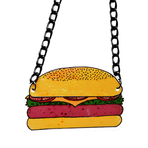 Giant Burger Necklace
