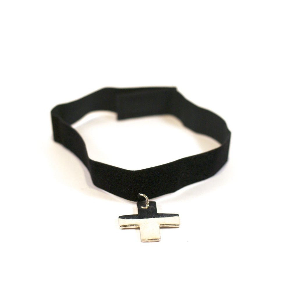 Material Girl Vintage Choker Necklace - Crossed Choker