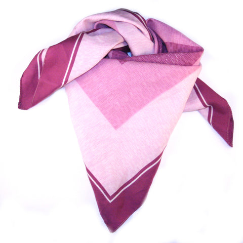 Perfect In Purple Vintage Scarf. Purple lilac and white vintage scarf.