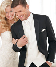 Load image into Gallery viewer, 'Modern Essential' Black 2-Button Notch Tuxedo - Tuxedo Club