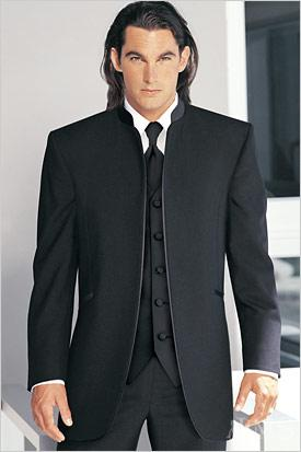 'Mirage' Black 0-Button None Tuxedo - Tuxedo Club