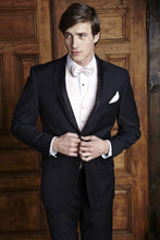 Load image into Gallery viewer, 'Vogue' Black 2-Button Peak Tuxedo - Tuxedo Club
