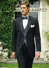 Load image into Gallery viewer, Pinstripe Blk/Wht 3-Button Notch Tuxedo - Tuxedo Club