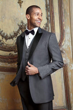 Load image into Gallery viewer, 'Fitzgerald' Charcoal 1-Button Peak Tuxedo - Tuxedo Club