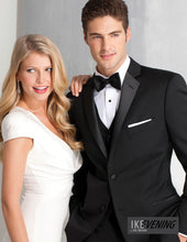 Load image into Gallery viewer, 'Parker' Black 2-Button Notch Tuxedo - Tuxedo Club