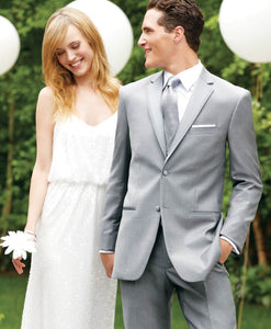 'Madison' Grey 2-Button Notch Tuxedo - Tuxedo Club