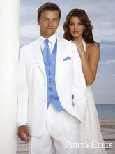 Load image into Gallery viewer, 'Madison' White 2-Button Notch Tuxedo - Tuxedo Club
