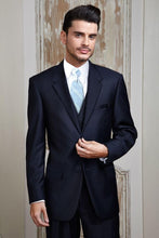 Load image into Gallery viewer, 'Aspen' Navy 2-Button Notch Suit - Super 150 - Tuxedo Club