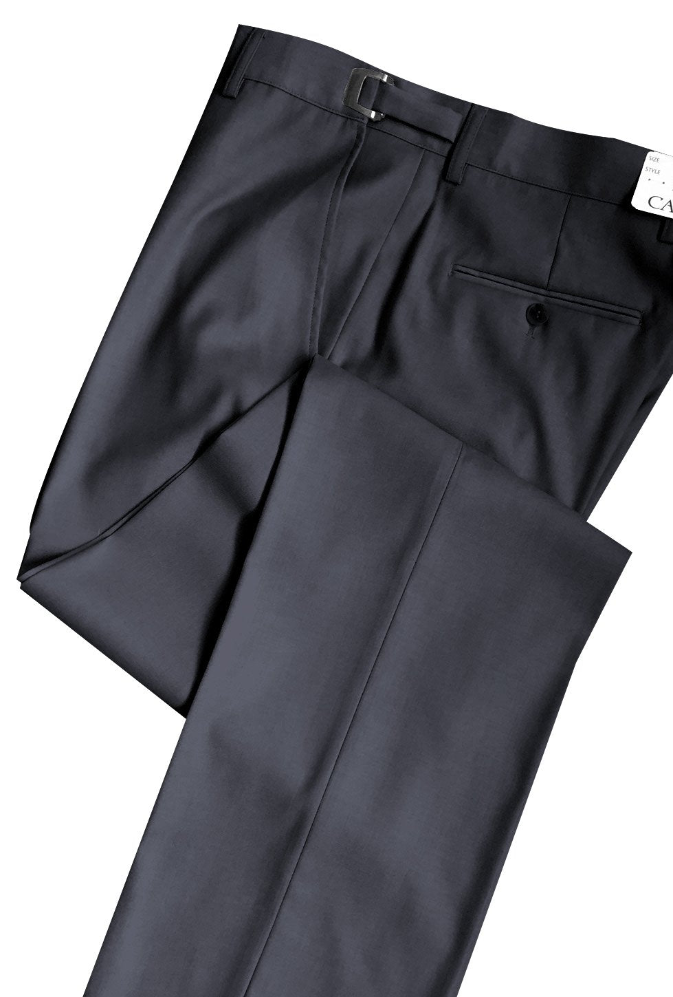 Charcoal 150's SLIM-FIT Flat Front Suit Pants - Tuxedo Club