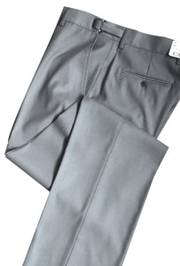 Heather Grey 150's SLIM-FIT Flat Front Suit Pants - Tuxedo Club