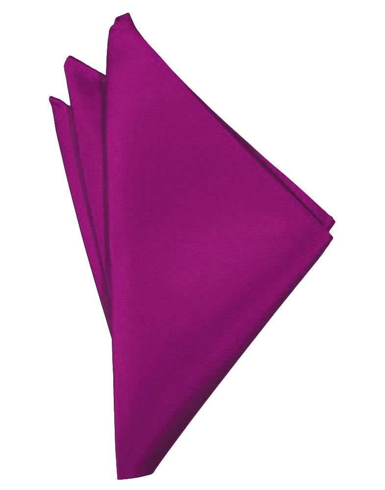 Cassis Solid Satin Pocket Square - Tuxedo Club