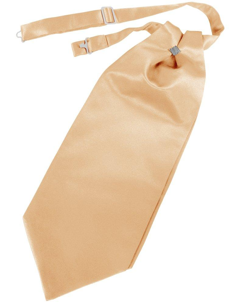 Peach Solid Satin Cravat - Tuxedo Club