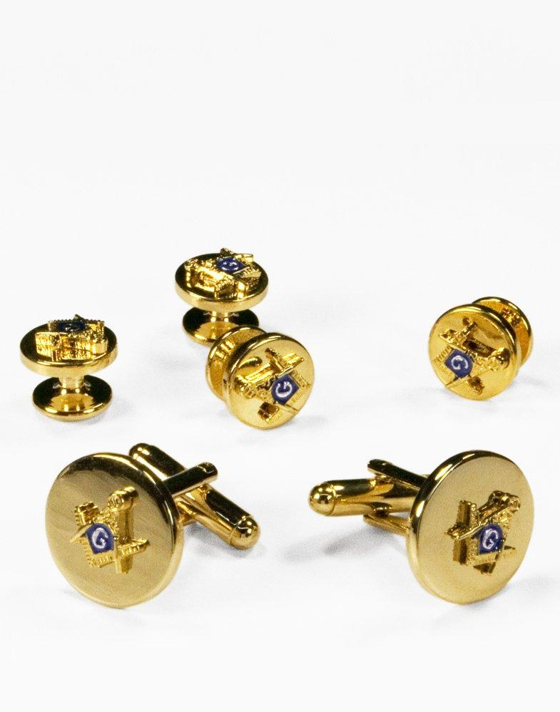 Mason Gold Cufflink and Stud Set - Tuxedo Club
