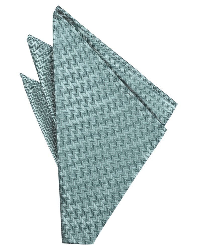 Cloudy Herringbone Pocket Square - Tuxedo Club