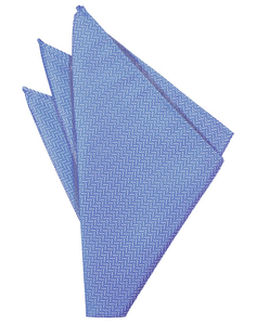 Cornflower Herringbone Pocket Square - Tuxedo Club