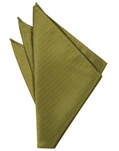 Gold Herringbone Pocket Square - Tuxedo Club