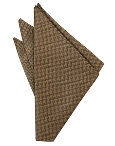 Mocha Herringbone Pocket Square - Tuxedo Club