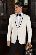 Load image into Gallery viewer, 'Waverly' Ivory 1-Button Shawl Tuxedo - Tuxedo Club