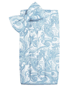 Light Blue Tapestry Cummerbund - Tuxedo Club
