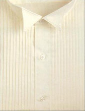Load image into Gallery viewer, Wingtip Pleated Ivory Tuxedo Shirt - Tuxedo Club